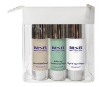 Pflege Treatment Sets Travel Set Natural Peel med 30 ml + Balancing Sedative Gel med 30 ml + Night & Day Collagen 30 ml