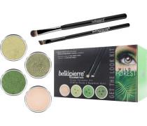 Make-up Sets Wild Forest Get the Look Kit Shimmer Powder Discoteque 2;35 g + Shimmer Powder Forest 2;35 g+ Shimmer Powder Reluctance 2;35 g + Mineral Makeup Base 8;5 g + Liner Brush + Oval Eyeshadow Brush