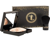 Looks Chic & Gold Christmas Coffret Gold Baked Powder 7;5 g + Mini Kabuki Brush