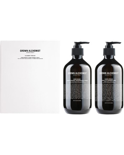 Handpflege Alchemist Twin Set Hand Wash Sweet Orange; Cedarwood & Sage 500 ml + Cream Vanilla Orange Peel