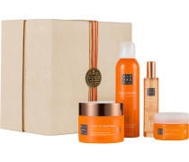 Kollektionen The Ritual Of Laughing Buddha Revitalizing Collection Giftset Happy Buddha Foaming Shower Gel Sensation 200 ml + Good Luck Scrub Sugar Body Scrub 125 g+ Touch Of Happiness Body Cream 200 ml + Happy Mist Light Bed & Body Mist 50 ml