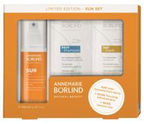 Sonnenpflege Sun Care Geschenkset Haar-Sonnenschutz-Spray 100 ml + Probe Aqua Shampoo für trockenes Haar + Probe Hair Mask für jedes Haar