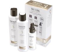 Nioxin Starter Set normale bis geringe Haardichte - fein-chemisch behandelt System 3 Cleanser 150 ml + Scalp Revitaliser 150 ml + Scalp Treatment 50 ml