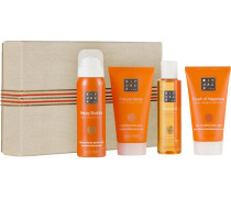 The Ritual Of Laughing Buddha Revitalizing Treat Giftset Happy Buddha Foaming Shower Gel 50 ml + Fortune Oil 75 ml + Invigorating Body Scrub 70 ml + Rich; Nourishing Body Cream 70 ml