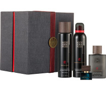 The Ritual Of Samurai Refreshing Collection Giftset Shave Luxury Foaming Shaving Gel 200 ml + Yuzu Shower Foaming Shower Gel 200 ml + Shave Repair Calming After Shave Lotion 100 ml + Eau de Parfum Travel Spray Bleu Byzantin 10 ml