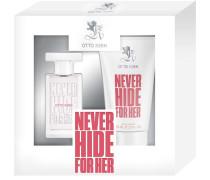 Damendüfte Never Hide For Her Geschenkset Eau de Toilette Spray 30 ml + Cream Shower 75 ml