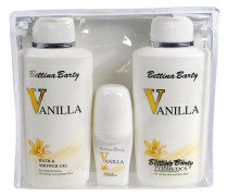 Damendüfte Vanilla Geschenkset Hand & Bodylotion 500 ml + Body & Shower Gel 500 ml + Deo Roll-On 50 ml