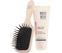 Beauty Haircare Weihnachtssets Brush & Cleansing Set Travel Hair & Scalp Brush + Daily Mild Shampoo 100 ml