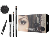 Make-up Sets Eye & Brow Complete Kit Noir: Mineral Eyebrow Powder Noir 2;35 g + Clear Mascara 9 ml Pencil Midnight Black 1;8 Brow/Liner Brush 8;5 Pinzette
