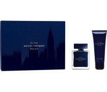 Herrendüfte for him Bleu Noir Geschenkset Eau de Toilette Spray 50 ml + Shower Gel 75 ml