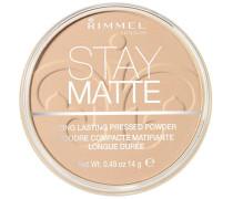 Make-up Gesicht Stay Matte Pressed Powder Nr. 006 Warm Beige