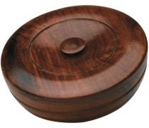 Herrenpflege Sandelholz-Serie Sandalwood Herbal Shaving Hard-Soap in Wooden Bowl