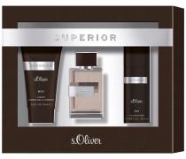 Herrendüfte Superior Men Geschenkset Eau de Toilette Spray 30 ml + Shower Gel & Shampoo 75 ml + Deodorant Spray 50 ml