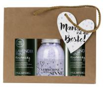 Haarpflege Tea Tree Lavender Mint Muttertagsset Moisturizing Shampoo 300 ml + Moisturizing Conditioner 300 ml + Badesalz Lavendel