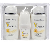 Damendüfte Vanilla Geschenkset Hand & Bodylotion 150 ml + Body & Shower Gel 150 ml + Deo Roll-On 50 ml