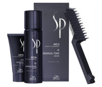 SP Men Natural Shade Gradual Tone schwarz 60 ml & Sensitive Shampoo 30