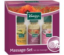 Pflege Haut- & Massageöle Massage-Set Massageöl Ylang-Ylang 20 ml + Massageöl Glückliche Auszeit 20 ml + Massageöl Mandelblüten Hautzart 20 ml