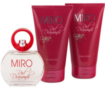 Damendüfte Red Diamonds Geschenkset Eau de Parfum Spray 50 ml + Body Lotion 150 ml + Shower Gel 150 ml