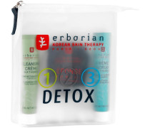 Pflege 123 Detox Detox Kit Cleansing Cream Pure Radiance 15 ml + Konjak-Schwamm mit Bambuskohle + Beautifying Exfoliating Pearls 15 ml