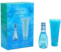 Damendüfte Cool Water Woman Geschenkset Eau de Toilette Spray 30 ml + Body Lotion 75 ml