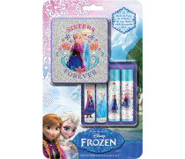 Pflege Die Eiskönigin Geschenkset 2x Eau de Toilette Roll-on Sister Queens 8 ml + Lip Balm Strawberry + Lip Balm Blueberry + Box