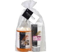 Pflege Botanical Geschenkset 2-Phasenbad Rice Milk + Vanilla 500 ml + Handcreme Rice Milk & Cherry Blossom