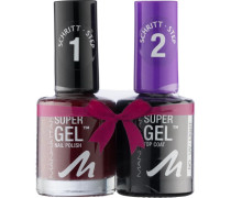 Make-up Nägel Duo Pack Super Gel Nail Polish Nr. 375 Berry Love 12 ml + Super Gel Top Coat 11 ml