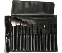 Make-up Accessoires Pinseltasche - befüllt Medium mit 14 Pinseln