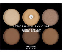 Make-up Augen Strobing & Shading Highlight & Contour Palette Tan To Deep