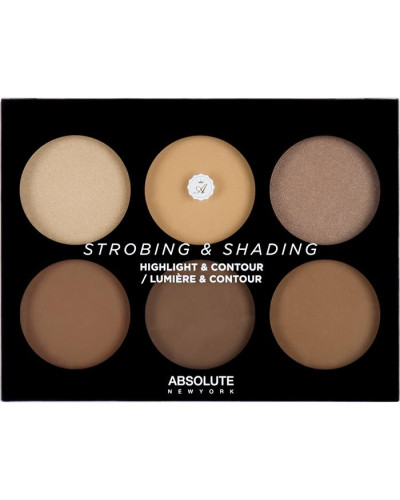 Make-up Teint Strobing & Shading Highlight Contour Palette Tan To Deep