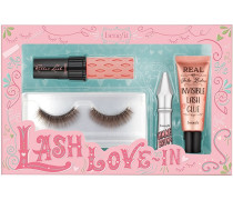 Augenbrauen Wimpern- und Augenbrauenset Lash-Love In Roller Lash Mascara Mini 4 g + Gimme Brow+ Nr. 03 1;5 Pin-Up Real False Lashes Invisible Glue 7 ml