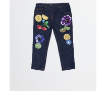 REGULAR FIT JEANS WITH PATCH