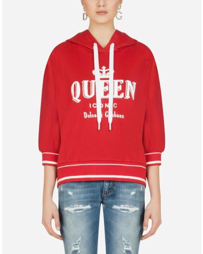 Sweatshirt mit Kapuze und Queen Iconic-Print