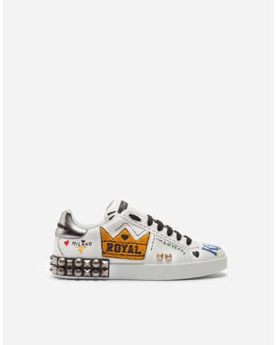Sneakers Portofino aus Kalbsleder mit Patch