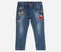 STRETCHJEANS MIT PATCH