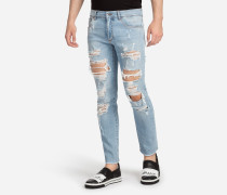 JEANS COMFORT FIT IM USED-LOOK