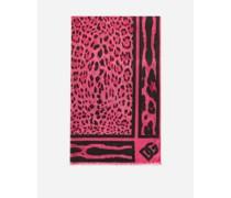 Pareo 110 x 190 aus Baumwolle mit fluoreszierendem Leoprint