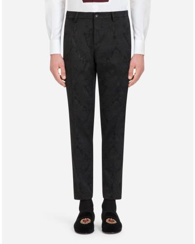 Hose aus Stretch-Baumwoll-Jacquard