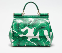 MEDIUM SICILY BAG IN PRINTED DAUPHINE LEATHER