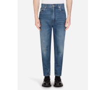 Stretch Jeans mit Hoher Taille