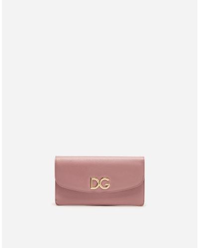 Brieftasche aus Bedrucktem Dauphine-Kalbsleder