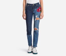 PATCHWORK-JEANS FIT SKINNY MIT PATCH