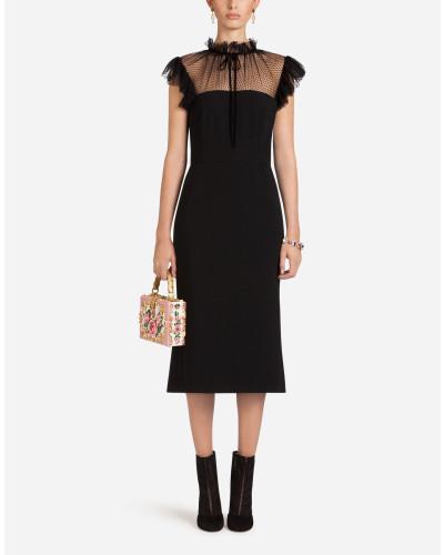 Kleid aus Cady und Tüll