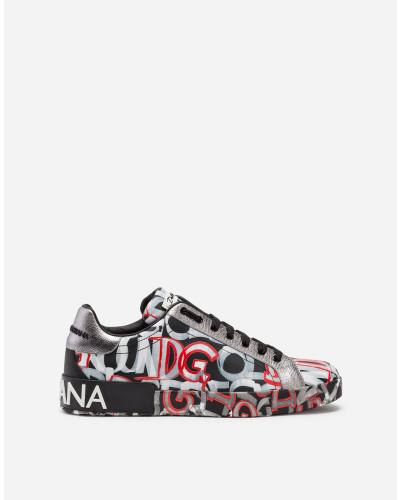 Sneakers Portofino in Bedrucketem Nappa-Kalbsleder