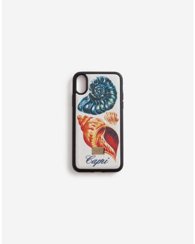 Iphone Xs-Hülle Special Capsule Capri mit Muschel-Print
