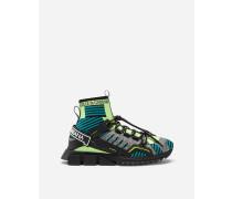 Sorrento Trekking High TOP Sneakers Mehrfarbiger Materialmix