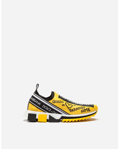 Sneaker Sorrento mit Graffiti-Print