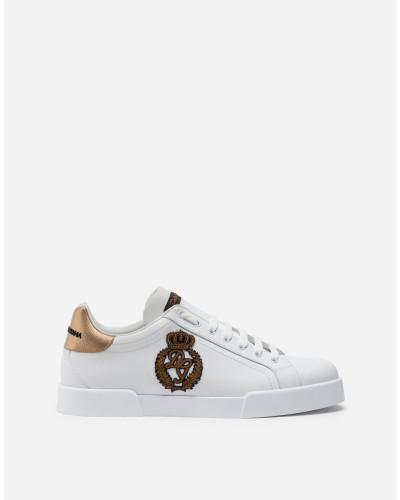 Portofino Sneakers aus Kalbsnappaleder mit Kronen-Patch