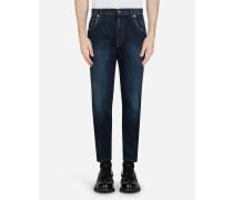 Stretch Jeans mit Ausgewaschener Optik