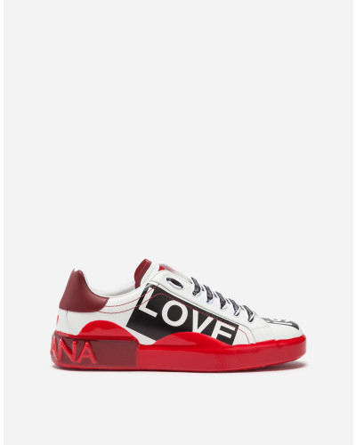 Sneaker Portofino Melt aus Bedrucktem Kalbsnappaleder